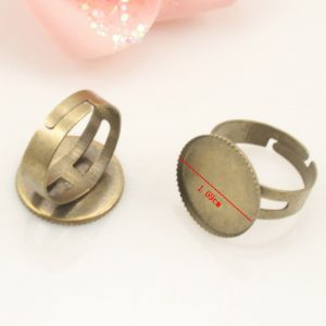 Ring base, Alloy, Metallic colour, 1  piece, (LJP285)